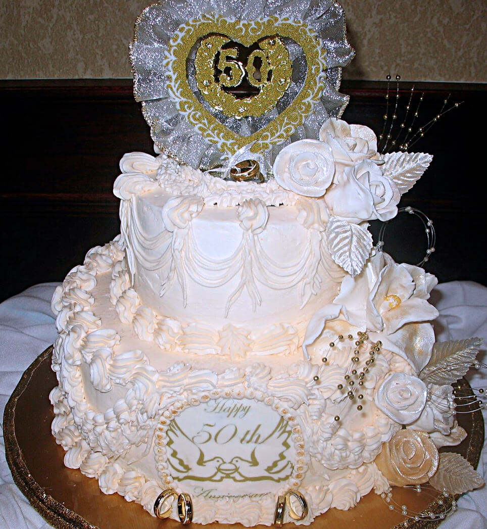 50th wedding anniversary cake all ours custom cakes charlotte nc. Black Bedroom Furniture Sets. Home Design Ideas