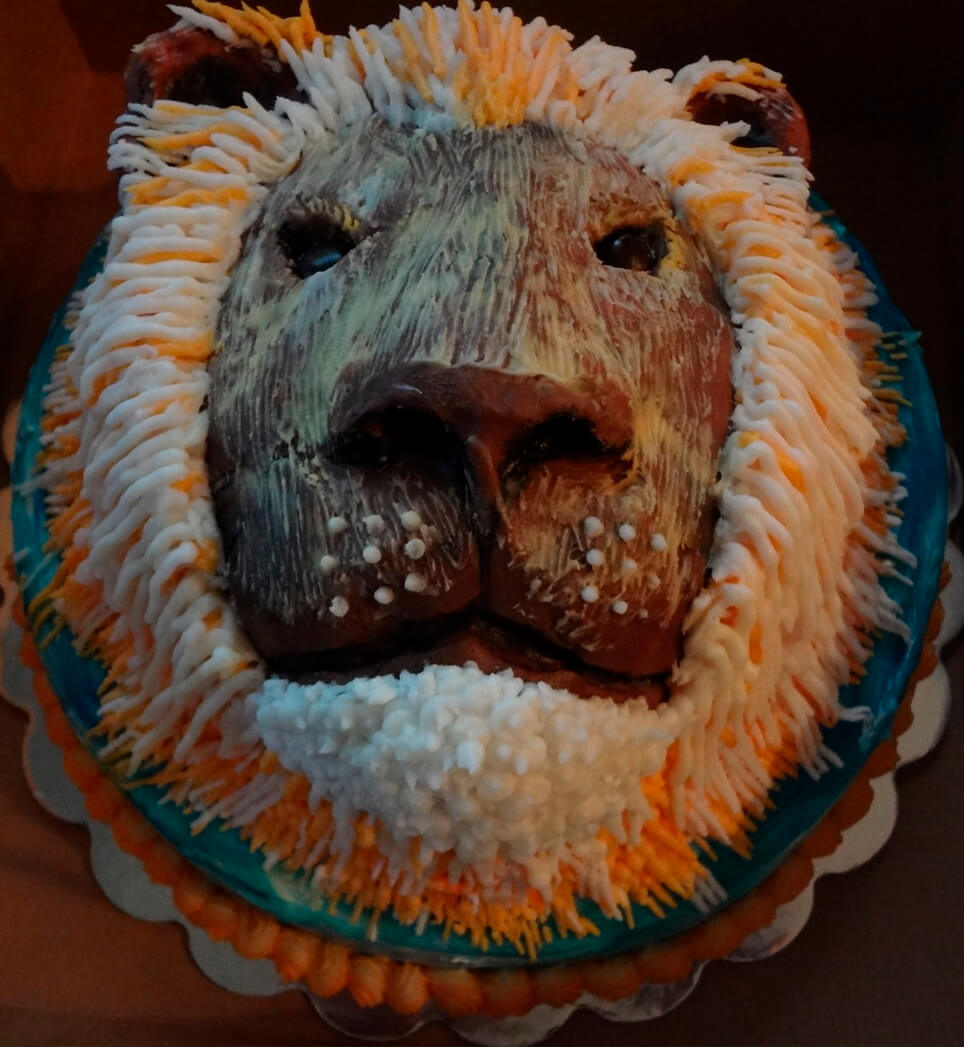 Leo the Lion Cake All Ours Custom Cakes Charlotte NC