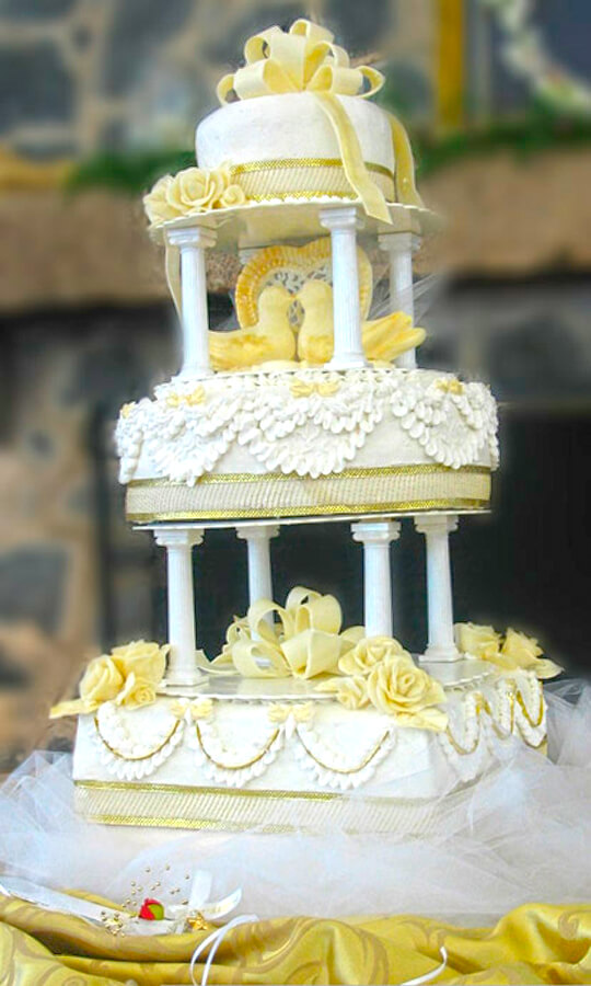 Wedding Cake with Birds – All Ours Custom Cakes Charlotte NC