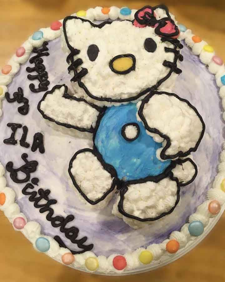 Hello Kitty Birthday Cake All Ours Custom Cakes Charlotte Nc